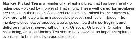 MONKEY TEA PD