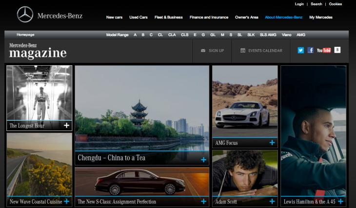 Mercedez-Benz Magazine online